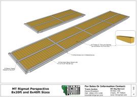 rig mat standard 8 ft wide detail drawing