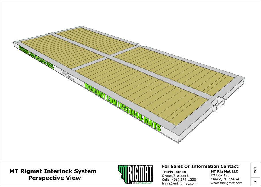 rig mat interlocking detail drawing