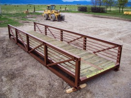 foot bridge built in montana