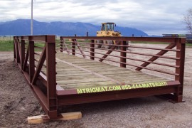 bridge with removable handrail